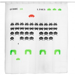 Space Invaders - Cortina de baño