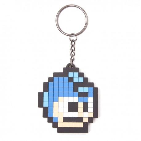 Megaman Llavero caucho Pixel Head 6 cm