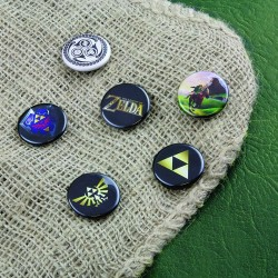 Chapas The Legend Of Zelda ® Paquete de 6 unidades