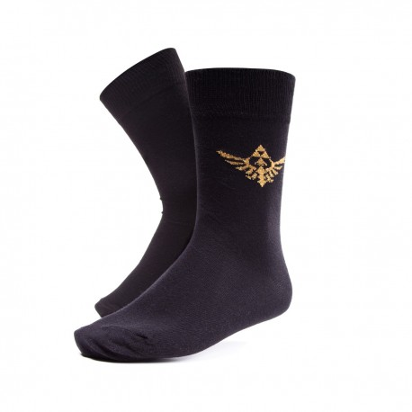 The Legend of Zelda | Calcetines negros con logo dorado