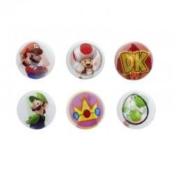 Chapas holográficas de Nintendo ® Paquete de 6 unidades