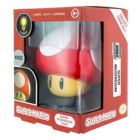 Super Mario lámpara 3D Mushroom 10 cm