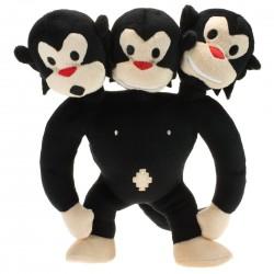 Mono de tres cabezas