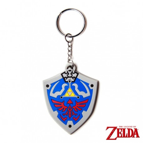 The Legend of Zelda - Llavero caucho Hyrulian Crest 7 cm
