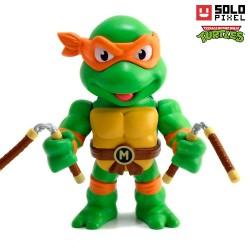 Figura TMNT ® Michelangelo de metal, Jada Toys
