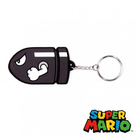 Llavero de caucho 'Bullet Bill' (Nintendo)