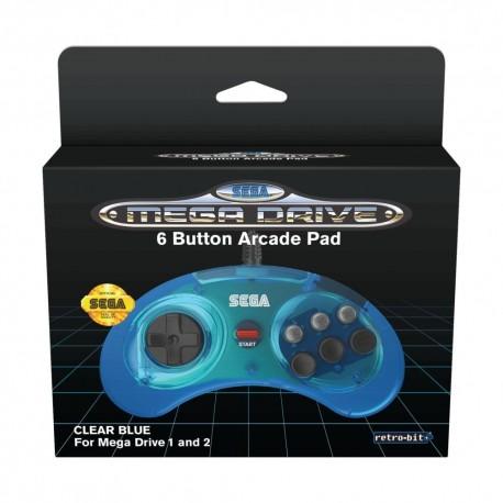 Mando de 6 botones azul ® SEGA Mega Drive Mini