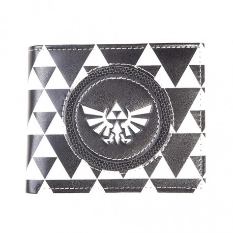 Cartera monedero The Legend Of Zelda ® Blanca y negra