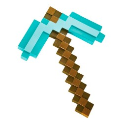 Minecraft Réplica Plástico Diamond Pickaxe 40 cm