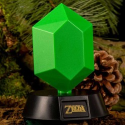 Legend of Zelda lámpara 3D Green Rupee 10 cm