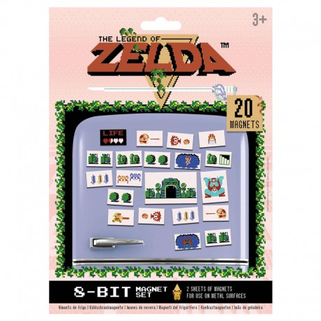 The Legend of Zelda Set de Imanes Retro