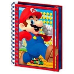 Super Mario Libreta Cuaderno A5 Wiro 3D Mario