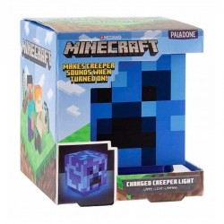 Lámpara azul de Minecraft Creeper