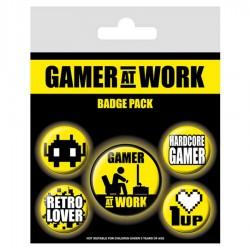 Set de chapas Gamer at Work