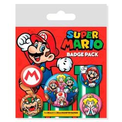 Pack 5 Chapas de Super Mario World