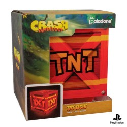 Lámpara Crash Bandicoot caja TNT