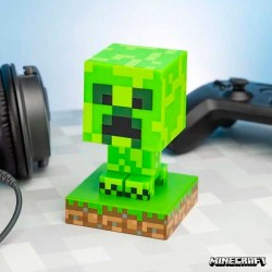 Creeper Minecraft Lámpara verde