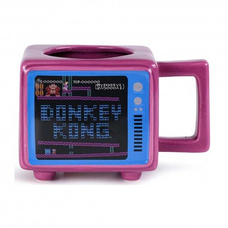 Taza térmica con forma de TV Retro Donkey Kong