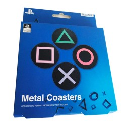 Posavasos PlayStation metálicos