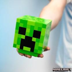 Lámpara azul de Minecraft Creeper