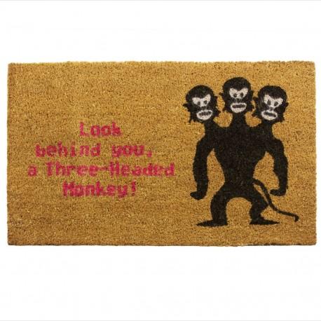 """Felpudo """"Mono de 3 cabezas"""""""