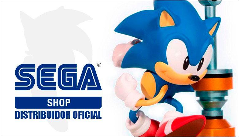 Figuras de Sonic y merchandising de SEGA